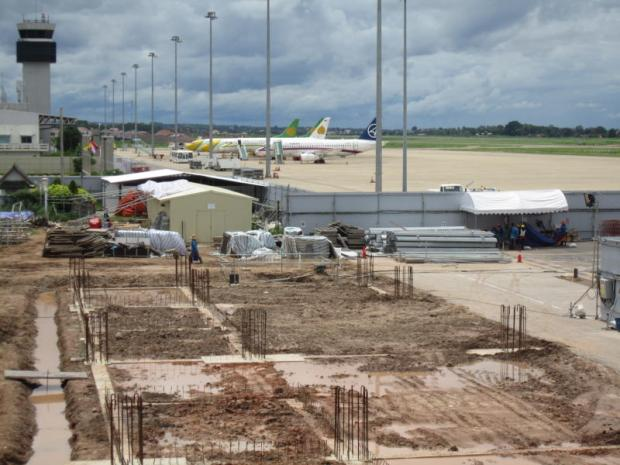 Wattay airport, the main gateway to Vientiane, is undergoing an expansion to triple capacity.BOONSONG KOSITCHOTETHANA