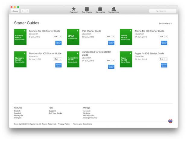 iBooks screen showing new Apple guides. Photos: Graham K. Rogers