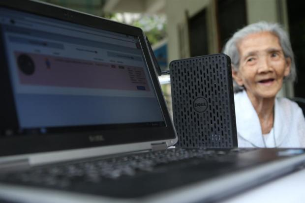 Under the concept of smart healthcare, elderly residents can be monitored remotely using the Internet of Things and cloud technology from companies like Dell and Intel.