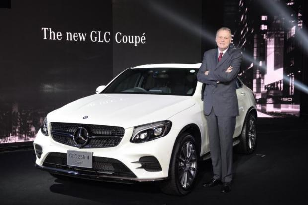 Mr Grewe at yesterday's launch of the Mercedes-Benz GLC 250 d 4MATIC Coupe. The carmaker's local boss says a high-voltage battery production facility would serve Thailand's future car market.