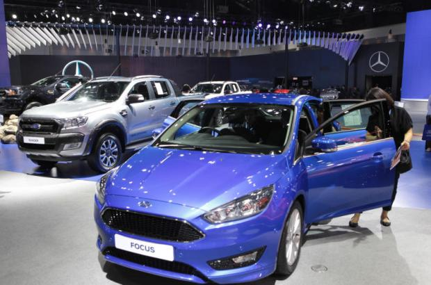 Ford cars on display at the Thailand International Motor Expo 2016 at Impact Muang Thong Thani. Thailand accounted for the highest sales in the region at 36,465 vehicles last year.TAWATCHAI KEMGUMNERD