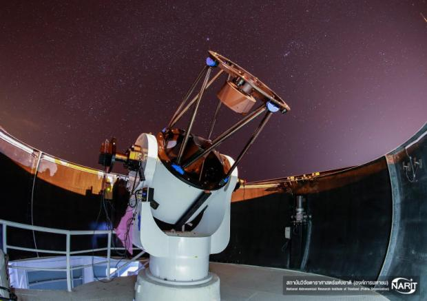 A 0.7-metre reflecting telescope in the inset is aimed at detecting and tracking asteroids and comets passing close to Earth in the hope of reducing any potential hazards they could pose, as well as providing the public with the most up-to-date and accurate information on these celestial objects.  National Astronomical Research Institute of Thailand (Public Organization)
