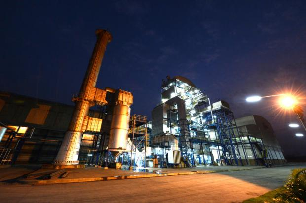 Buriram Sugar's biomass power plant in Buri Ram province. The company is to launch an infrastructure fund to raise money for the expansion of its businesses.