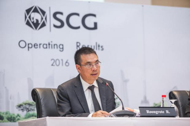 Mr Roongrote Ransiyopash, president and CEO of SCG.