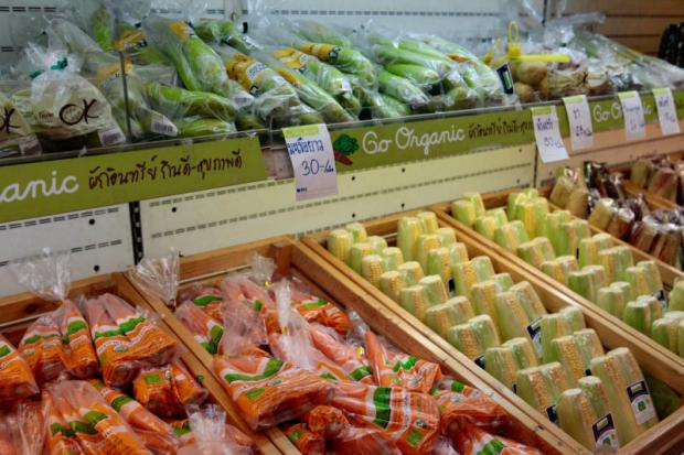 Retail sales of organic food in Thailand remain low, at just 24 US cents per capita in 2014, compared with $10 in Japan. Photo: KARNJANA KARNJANATAWE