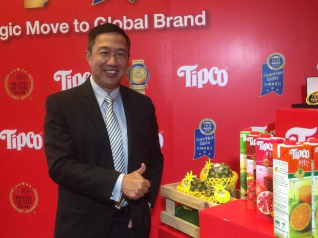 Ekaphol Pongstabhon aims for Tipco to make its own juice brands in Asean and form joint ventures with local partners to expand its business in various countries.