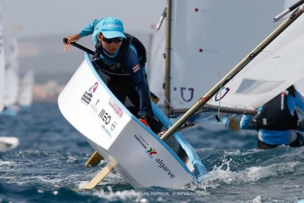 A Thai sailor at the Optimist World Championship 2016.