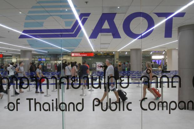 AoT-run airports saw passenger traffic surge in January and February, thanks to the New Year and Lunar New Year. TAWATCHAI KEMGUMNERD