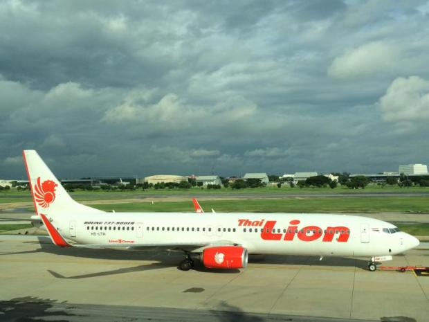 A Thai Lion Air Boeing 737-900ER sits at Don Mueang airport. The low-cost carrier under Indonesia's Lion Group seeks to challenge Thai AirAsia at U-tapao airport in Rayong.