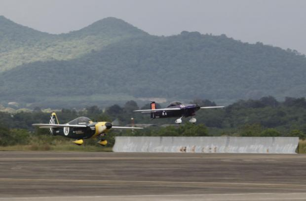 Planes compete in an air race at U-tapao airport in Rayong. Some areas around the airport will be developed into a special investment zone under the EEC scheme. PATTARAPONG CHATPATTARASILL