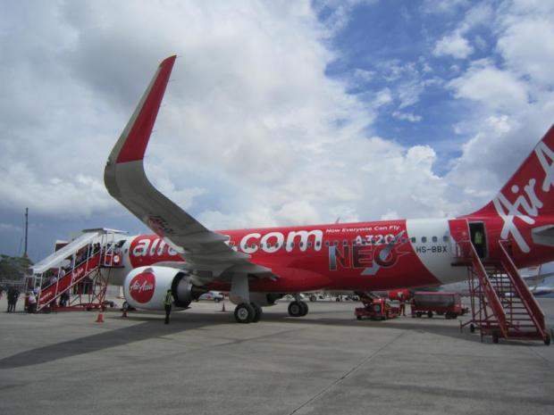 Thai AirAsia passengers alight at Hat Yai Airport. TAA and Bangkok Airways are so far the only two airlines that have had their licences re-certified by the CAAT.