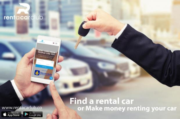 Rent A Car Club application, Thailand first peer to peer car rental agency, where car owners can rent their cars and make money while doing it.