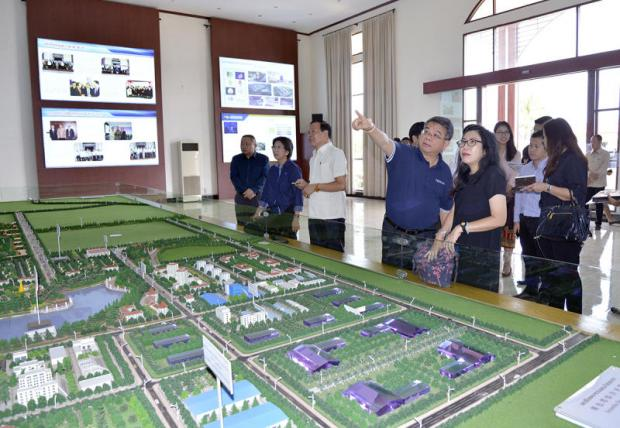 An architectural model maker is among the companies located in Chey Chettha SEZ in Vientiane, a site offered to investors under the YEN-D programme by the Lao government.