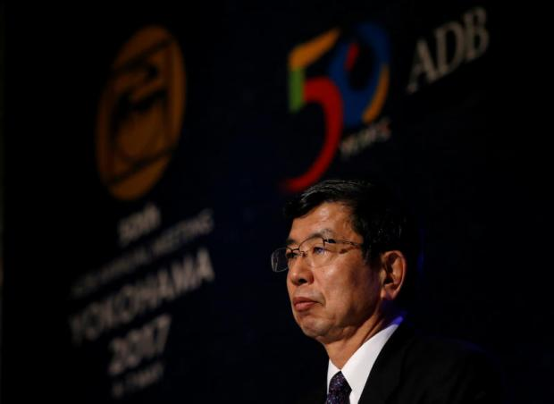 Asian Development Bank president Takehiko Nakao addresses a news conference at the ADB annual general meeting in Yokohama. (Photo: Reuters)