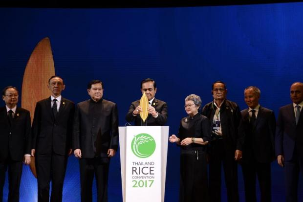 Prime Minister Prayut Chan-o-cha opens Thailand Rice Convention 2017, organised by the Commerce Ministry.