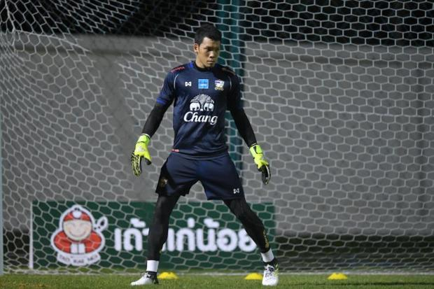 Thailand goalkeeper Kawin Thamsatchanan.