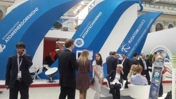 Visitors throng the 'IX International Forum AtomExpo 2017', held in Moscow last month.APINYA WIPATAYOTIN