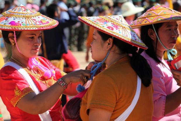 Women in Shan State take part in celebrations to mark the 70th Shan National Day in February. Officials hope to boost trade with the large state in Myanmar.