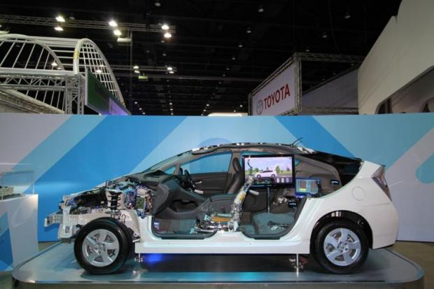 This cut-off Prius Hybrid is on display at Siam Paragon until Aug 13 to celebrate 55 years of Toyota Thailand.