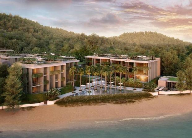 SETTING THE STANDARD: Above, MontAzure is a luxury development on a 75-rai hillside plot on Kamala Beach. Below, Crest Resort & Pool Villas is an eco-friendly resort. Photos: Bangkok Post Archive