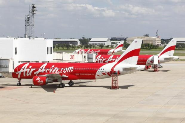 Thai AirAsia jets at Don Mueang airport. LCCs are taking a rising share of overall air traffic through Thailand.