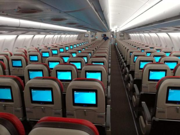 All economy-class seats in Thai Lion's new Airbus jets are equipped with back-seat screens offering complimentary entertainment.