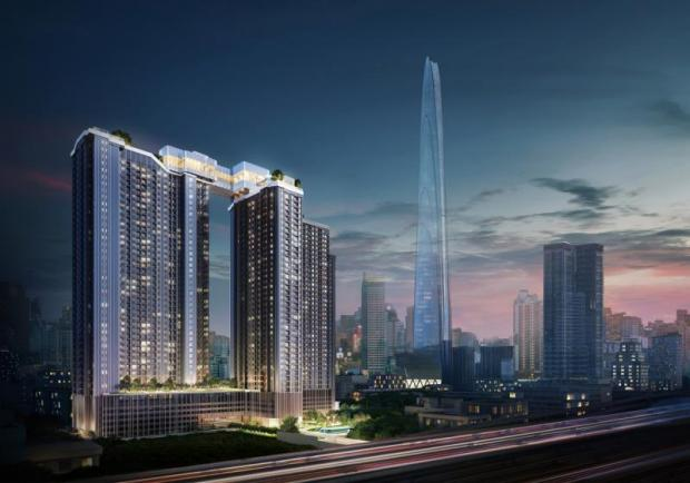 Life Asoke-Rama 9 is a 9-billion-baht condo project occupying eight rai of land and consisting of two high-rise towers.