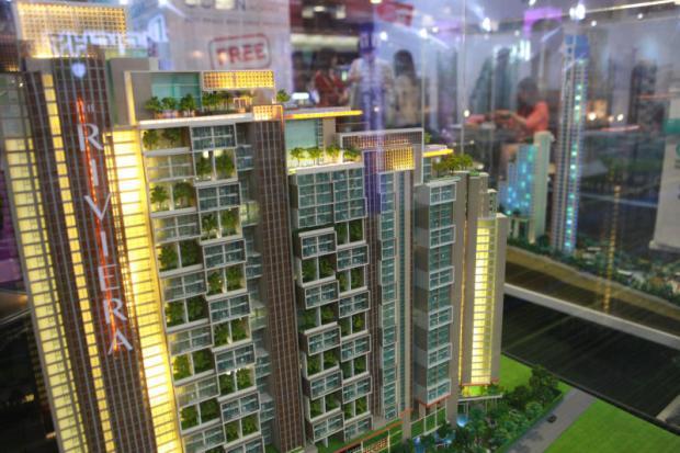 Condominium projects displayed at a housing and condominium fair.SOMCHAI POOMLARD
