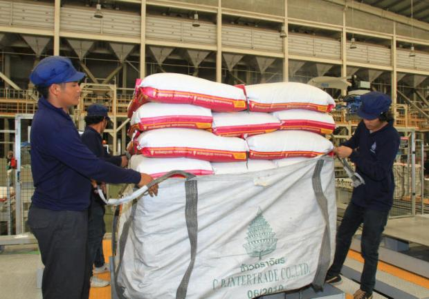 A rice processing plant in Ayutthaya province. Overseas demand is expected to offset downward pressure from this year's main crop and support rice prices.TAWATCHAI KEMGUMNERD