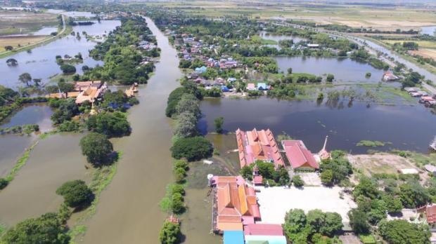 A flood-ravaged area in Phak Hai district of Ayutthaya in late August.SUNTHORN PONGPAO