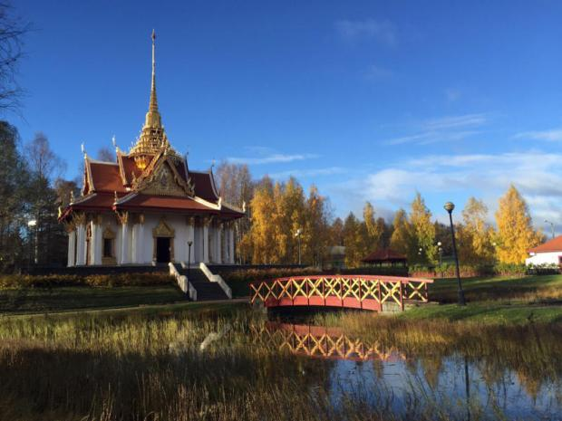royal links: The Thai Pavilion in Utanede in northern Sweden was built to honour King Rama V when he visited the town in 1897.