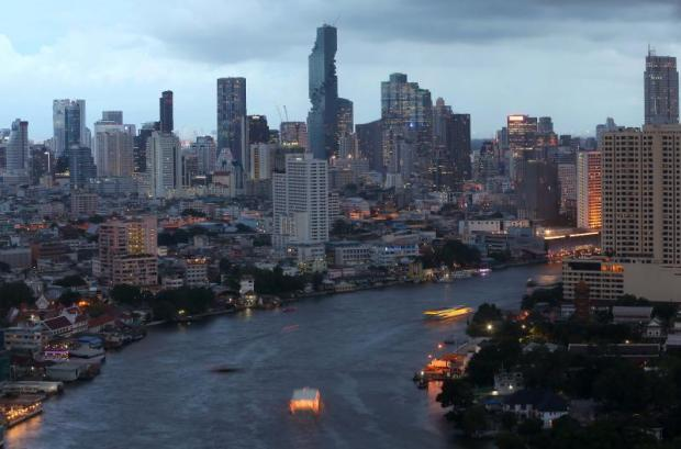 Pace Development's MahaNakhon building (centre) towers above other skyscrapers in Bangkok. PATTARACHAI PREECHAPANICH