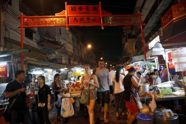 Street food stalls along Yaowarat Road, Bangkok's Chinatown. The just-released Michelin Guide highlights street food in the capital.SEKSAN ROJJANAMETAKUN