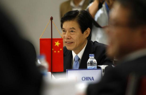 Former Chinese trade minister Zhong Shan reacts during a Regional Comprehensive Economic Partnership meeting in Vietnam in May last year. Washington's withdrawal from the Trans-Pacific Partnership presents China with an immense opportunity to take the lead in reshaping regional trade.AP