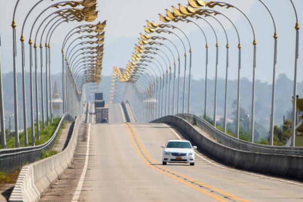 The Thai-Lao Friendship Bridge on the Mekong River connects Nakhon Phanom province with Thakhek, Khammouane in Laos.PANUPONG CHANGCHAI