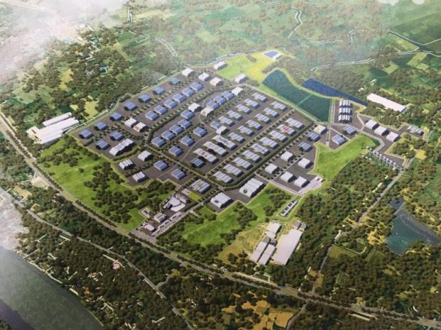 An artist's conception of the 4.2-billion-baht World Food Valley Thailand industrial estate in Ang Thong province.