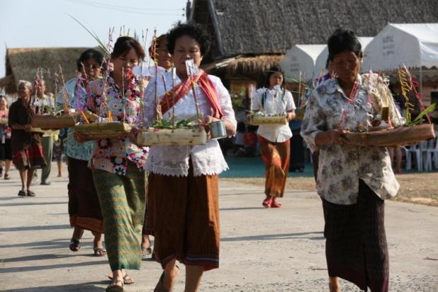 Villagers at Baan Sawathee in Khon Kaen. The northeastern province, a gateway to the Greater Mekong Subregion, will host the PATA Destination Marketing Forum in November this year.KARNJANA AYUWATANACHAI