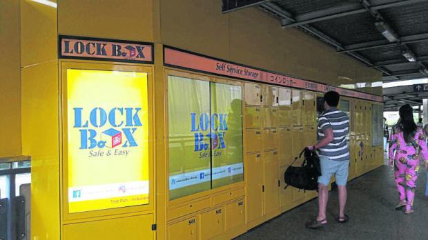 Lock Box on the walkway to BTS Sala Daeng station offers convenient storage facilities.WALAILAK KEERATIPIPATPONG