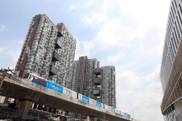 Condo launches are expected to proliferate across mass transit lines, both extant and planned. WEERAWONG WONGPREEDEE