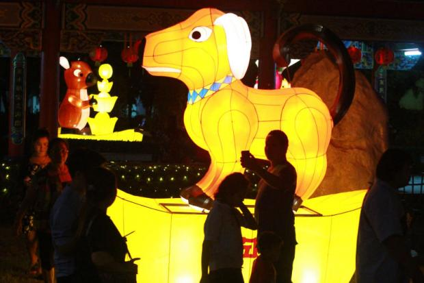 Tourists at the Lantern Festival in Samut Prakan, held to celebrate Chinese New Year. The fair runs through March 11.