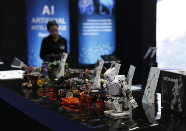 Robots are displayed at an exhibition to promote Thailand's digital economy. PATTARAPONG CHATPATTARASILL