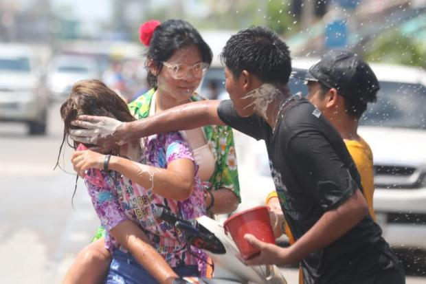 Nearly 60% of women reported that they were harassed during Songkran. Photo: Weerawong Wongpreedee