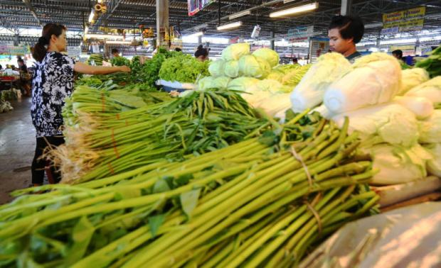 Rising prices for vegetables triggered some of the inflation rise in April.KITJA APICHONROJAREK