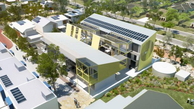 A depiction of the White Gum Valley project developed by Power Ledger and its partners near Fremantle, Western Australia. The energy platform will be used at a Sansiri project.