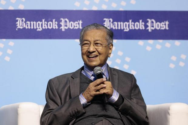 Dr Mahathir Mohamad, who was set to become the world's oldest prime minister after his opposition party was declared the winner of Malaysia's general election Thursday, speaks at the Bangkok Post Forum 2017 Asean @50 at at CentralWorld last November.  Patipat Janthong