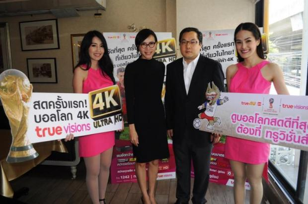 Mr Sueksith (second from right) aims to please customers with the highest content resolution.