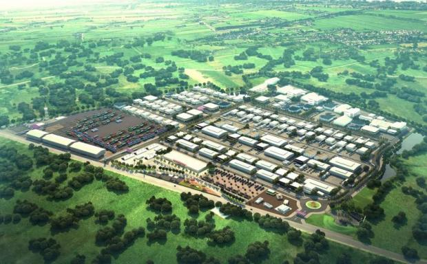 An artist's rendering of Sa Kaeo Industrial Estate, the first scheduled to open under the government's SEZ scheme.