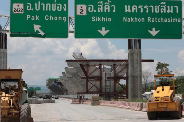 Heavy-duty vehicles at the construction site for a motorway spanning Ayutthaya-Nakhon Ratchasima province, one of myriad PPP schemes.WICHAN CHAROENKIATPAKUL
