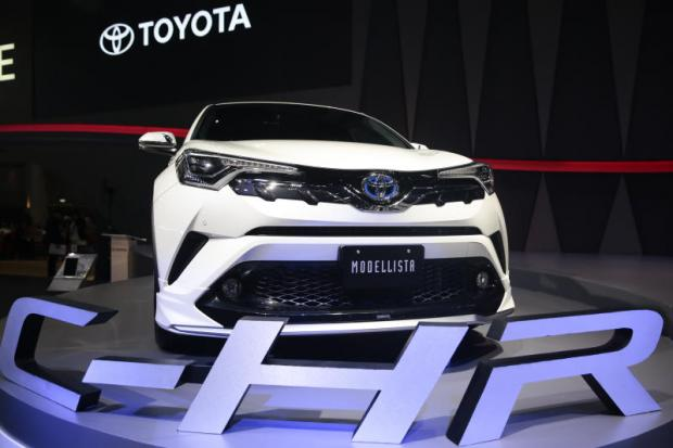 Toyota's C-HR is displayed at the Bangkok International Motor Show 2018. This model is completed at Toyota's plant in Chachoengsao province. PATIPAT JANTHONG