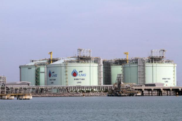 PTT's LNG terminal at Map Ta Phut, in Rayong province, will be one of the bases for its LNG trading business.(Photo by Apichart Jinakul)